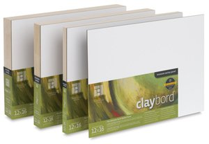 Ampersand Museum Series Claybord Panels for Paint and Ink, 1.5 Inch Depth Cradled, 30X36 Inch (CBSCG3036)