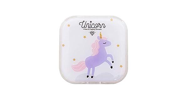 Cdet - Estuche portalentillas con diseño de Unicornio para Guardar Las lentillas en casa o de Viaje: Amazon.es: Hogar