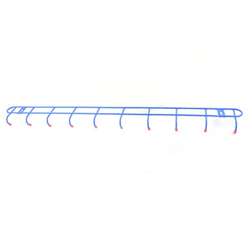 outlet uxcell Plastic Wrapped Home Wall Bathroom 10 Hooks Towels Hats Belts Hanging Rack Hanger Blue