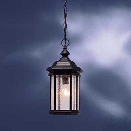 26541af42b8 Image Unavailable. Image not available for. Color  KICHLER 9810BK Kirkwood  1LT Exterior Hanging Lantern