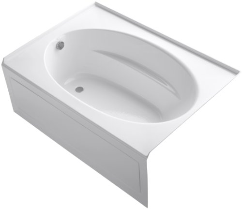 KOHLER K-1113-LA-0 Windward 5-Foot Bath with Integral Apron, White