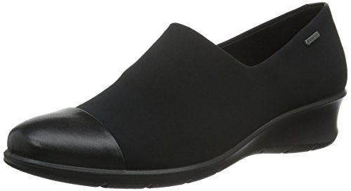 ECCO Footwear Womens Felicia GTX Slip-On Loafer, Black/Black, 38 EU/7-7.5 M US