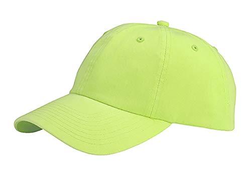 MG Low Profile Dyed Cotton Twill Cap - Apple Green OSFM - Apple Cotton Cap