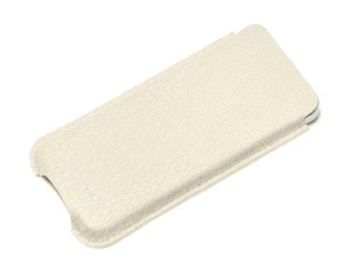 Lucrin - Ledertasche Apple iPhone 5/ 5s - Färsenleder, genarbt - Leder - Natur Weiss