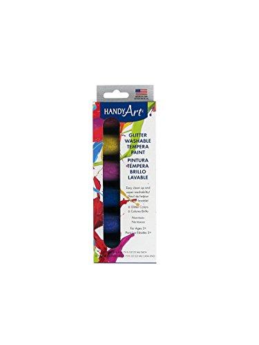 handy-art-glitter-washable-tempera-paint-kit-075-ounce-assorted