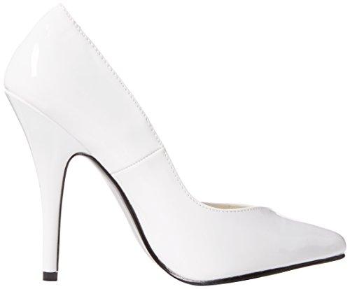 wht 420v Pleaser Pat Femme Seduce White Escarpins Fermé Bout 1qxwfRU0