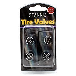 4pcs Anti Theft Valve Cap Stem Cover Silver for Car Tire External Accessories Compatible with Dodge Car Model Tire Valve Cap Decoration Coris