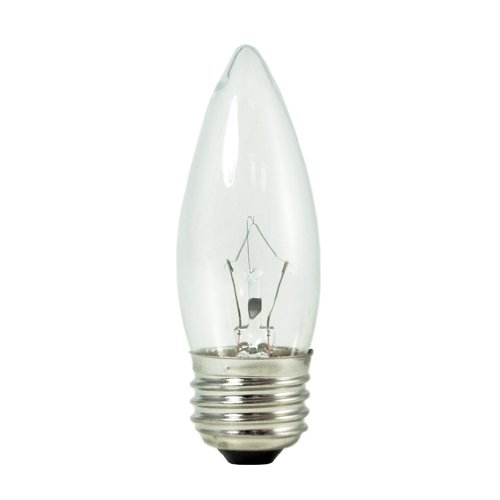Bulbrite KR40ETC/32-10PK 40W Krystal Touch Torpedo Chandelier Bulb, B10, Medium Base, 10-Pack