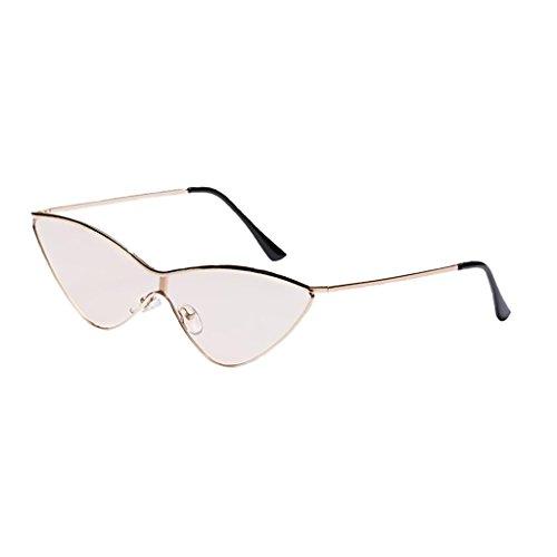 MagiDeal Décontracté Triangle En bronzage Rétro Lunette De léger Unisexe Style Soleil Mode Sunglasses wqZvw1