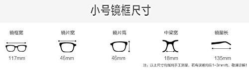 de azul Small equipo terminada plano contra y cara gafas redondas negro la reborde marco gafas gafas KOMNY las Black pequeño radiaciones anti TV qw8EYgnx1