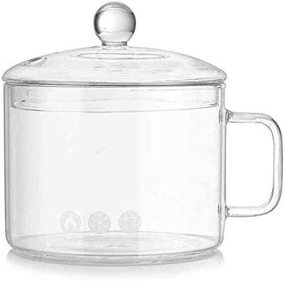 Heheng - Cuenco de cristal para microondas con tapa de ...