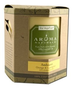 Aroma Naturals, Soy Vegepure, Soy Pillar Candle, Ambiance, Orange & Lemongrass, 3 (Aroma Naturals Pillar Candle)