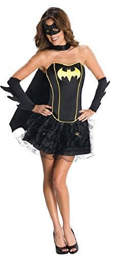 Ladies Batgirl Supergirl Wonder Woman Robin Super Hero Corset Tutu Halloween Hen Do Fancy Dress Costume Outfit 6-18 (UK 16-18, Batgirl) ()