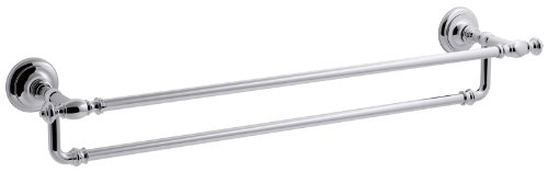 (KOHLER K-72570-CP Artifacts 24 In. Double towel bar, Polished Chrome)