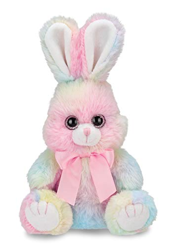 Bearington Lil' Sweetie Small Rainbow Plush Bunny Stuffed Animal, 6 inches ()