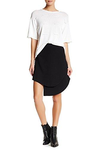 - Opening Ceremony Crepe Overlap Mini Skirt For Women In Black, 8