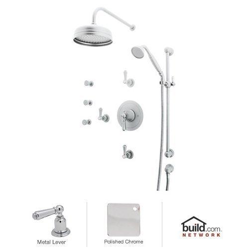 Rohl U.KIT67LS-APC 1017/8Tcb Georgian Era Shower System with Thermostatic Valve Trim and Shower Handle, Polished Chrome ()
