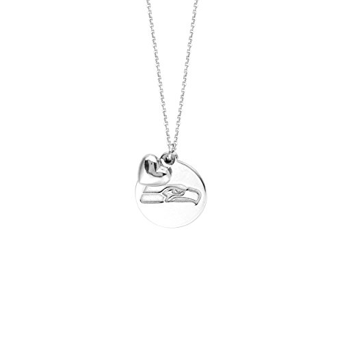 Licensed NFL Seattle Seahawks Necklace Team Logo Pendant with Heart Charm