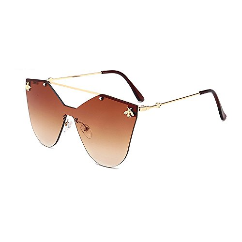 retro Ojos de para de mujer sol de de una sol Retro con de gato estilo estilo montura pieza de sol sin gafas gafas de sol esqu gafas de de Gafas sol de abeja gafas gafas decration único personalidad qvWwgBzwd