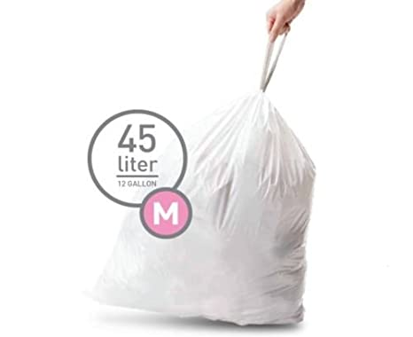 Amazon.com: Simplehuman – Papelera Trash Can bolsas Liners ...
