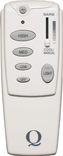 Quorum 7-1401-0, 3-Speed, Reversible and Light Dimming Remote with Climate Control, Off-White