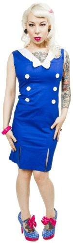 Sailor Dress with Thigh Slits - Blue & White - Sourpuss (Cheap Sailor Dress)