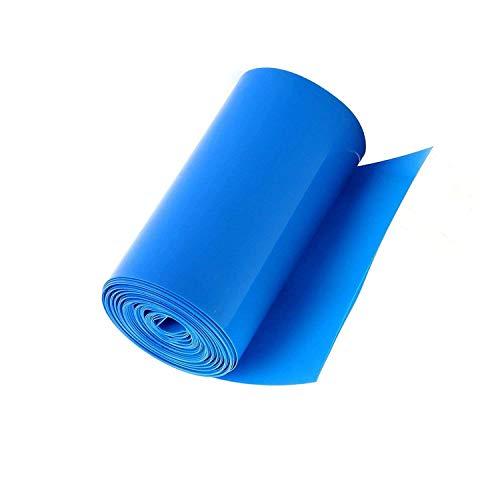 (Socell 5M/16.4Ft PVC Heat Shrink Tubing Wrap for 4 x 18650 Battery Shrink Sleeve Insulation casing Heat Shrink (85mm Width Blue))
