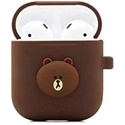 YSYYSH Cute Cartoon Animal Wireless Bluetooth Headset Hard Shell Protective Cover Anti-falling Dustproof Earphone Set Three Colors Can Choose Portable earphone  Color Brown