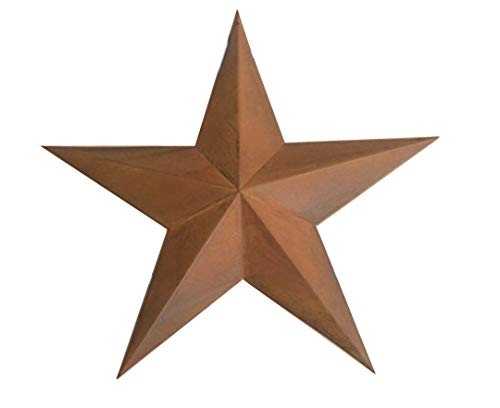 (PGM Rustic Steel Metal Barn Star Antique Wall Decor (12