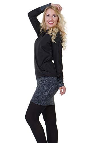 3elfen Robes Robe De Sweat Femme Pull Dunkelornament Avec Des Poches Hiver rrO4PX