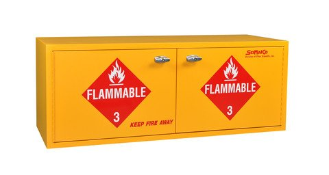 (Scimatco SC1860 Stak-A-Cab Epoxy Coated Plywood Flammable Cabinet, 16 x 1 Gallon Capacity, 47