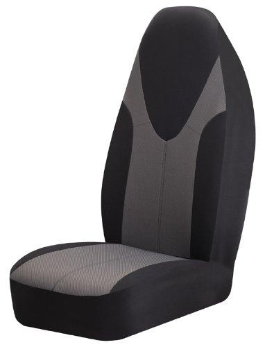 Braxton Universal Bucket Seat Cover, Black Set of 2