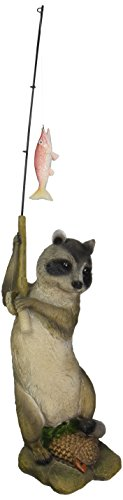 Design Toscano The Masked Fisherman Raccoon Statue, Multicolored ()