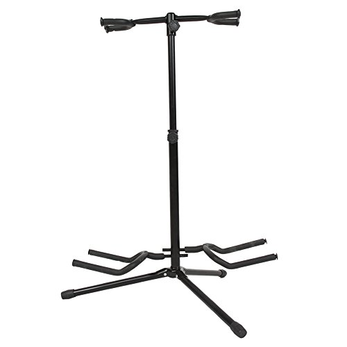 Kuyal Guitar Stand Adjustable Frameworks Multiple Guitar Stand For Acoustic Guitar, Electric Guitar Bass (Double Stand) (Band Bass Pipe)