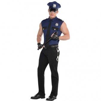 AMSCAN Under Arrest Cop Halloween Costume for Men, Large,]()