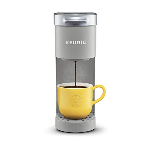 Keurig K-Mini Coffee Maker, Single Serve K-Cup Pod Coffee Brewer, 6 to 12 oz. Brew Sizes, Studio Gray