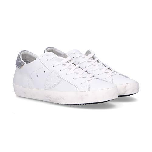 Cuero Model Blanco Zapatillas Mujer Philippe CLLDV034 cwSqpTzSa