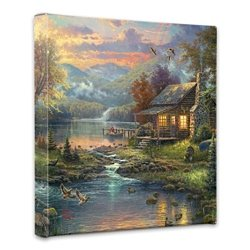 Thomas Kinkade Nature's Paradise 14 x 14 Gallery Wrapped Canvas