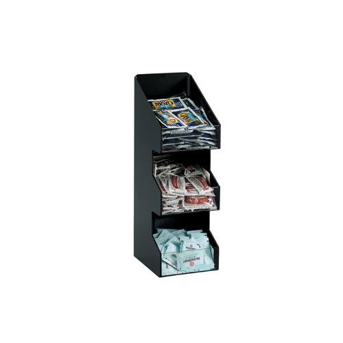 3 - Three Section Countertop Vertical Lid/Condiment Organizer (Polystyrene Countertop)