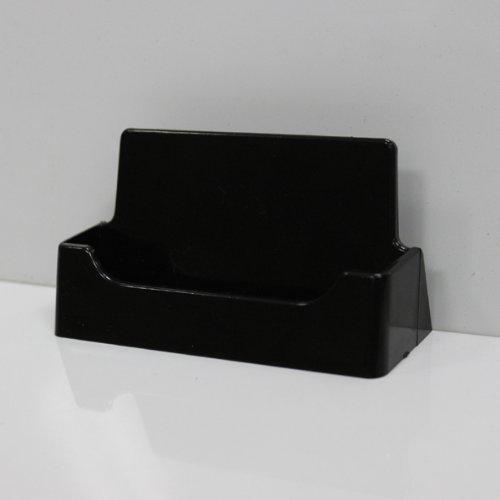 100 - Black Plastic Business Card Holder Desktop Countertop (Cheap Business Cards)