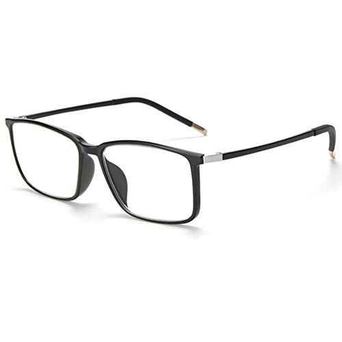 CAOXN Men's New Blue Blocking Glasses Ladies Computer Radiation Reading Glasses, Ultra Light TR90 Glasses Frame Single Visual Reading Amplifier - Anti-Fatigue +1.0 to +3.0,Black,+2.0 (Best Ereader For Macular Degeneration)