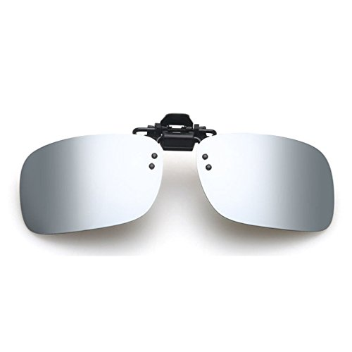 LOMOL Fashion Light Weight Polarized Nearsighted Glasses Clip-on Flip up UV Protection - To From Eyeglass Remove How Lenses Scratches