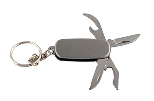GP Personalized Pocket Knife for Keychain for Men with 4 Function Multi-Tool for Father's Day
