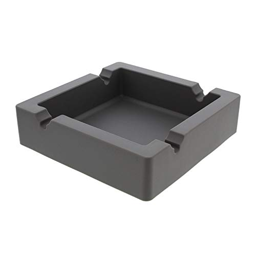 7Penn Large Silicone Ashtray for Cigars Cigarette Ashtray Outdoor Ashtray, Ash Tray Outdoors and Indoors - Gray