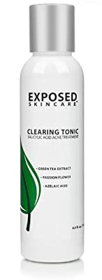 Clearing Tonic - Acne clearing toner w/ Salicylic Acid, Azelaic Acid, Green Tea Extract, and Sage