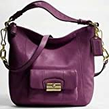 Coach Kristin Leather Convertiable Shoulder Hobo Bag Purse 14783 Raisin