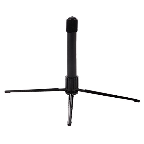 Black Portable Folding Flute Stand Bracket Rack Support Holder Accessory by MagiDeal (Image #3)