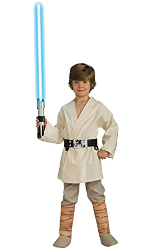 Star Wars Child's Deluxe Luke Skywalker Costume, (Boys Luke Skywalker Costumes)