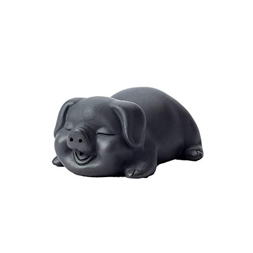 Handmade Pig Tea Pet Purple Clay Ceramic Tea Set Boutique Creative Auspicious Mascot Ornament Tray Table - Resin Ornament Mascot