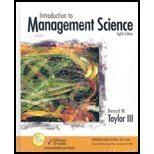 Introduction to Management Science and Student CD Package, Taylor, Bernard W., 0131050524